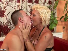 Mature Blonde Hooker Having a Blast with a Teen Dick