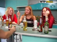 Real college girls go wild at the drunk party