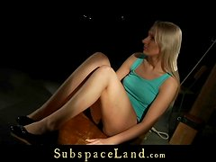 Hot blonde as slave-girl in bdsm play