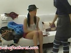 Real backstage fun with super hot czech chick