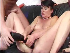 Granny fucked in her hot hairy cunt