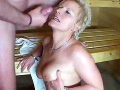 Amateur milf hardcore in the sauna