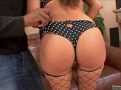 Fiery and lusty Katia B gets fucked by a monster cock