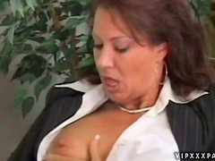 Nasty Mature Woman Gets A Mouthful Of Jizz