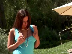 Koa-Marie Turner takes her dress off outdoors
