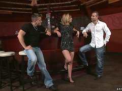 Chloe Delaure Having Fun Playing with Two Cocks in Threesome
