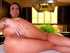 Amazing Rachel Starr gets pleased while posing and teasing horny stud into fucking her cunt