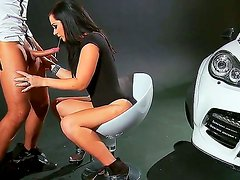 Brunette with massive tits Jayden Jaymes is horny and eager to fuck hunk Keiran Lee