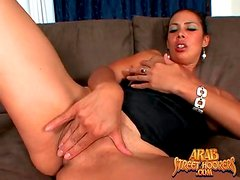 Arab milf with hot tits gives head