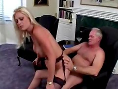 Blonde milf on top with the cock in her ass