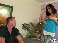 Horny Mexican babysitter Amia gets banged by her boss