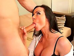 Busty milf Kendra Lust enjoys having young stud Danny Wylde smashing her tight pussy