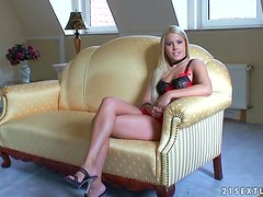 Brandy Smile gives an interview and shows some parts of her body