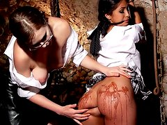 Ruth Medina is spanking stunning beauty Tina Kay