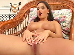 Famous pornstar Eve Angel playing with her pussy