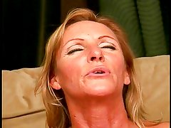 A freaky old grandmother pulls out a cock and sucks it clean