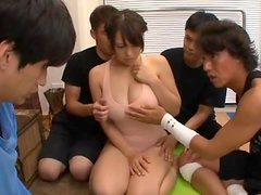 Big Titted Yoga Babe Reiko Nakamori Drinks Tons Of Cum