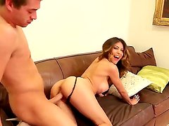 Busty babe Heather Vahn enjoys pleasing hunk Xander Crovus and his long dick