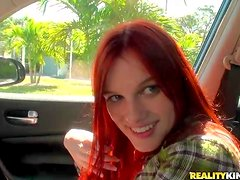 Tender redhead Andrea Sky is next to Bruno Dickenz in