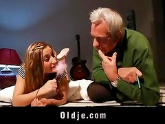 Celine learns the Oldje to fuck and kiss