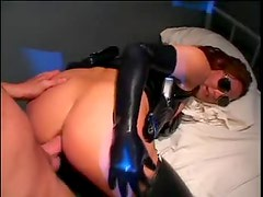 Latex cop ass fucked in jail cell