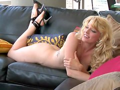 Rosaline Evans is a lovely blond babe with natural tits