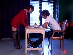 Busty Asian Teacher Yuzuka Kinoshita Taking Oral Exams
