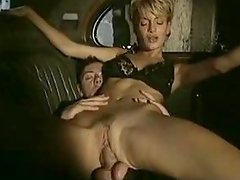 Classic retro style sex in the car with a gorgeous blondie