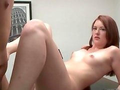 Sexy brunette babe gets horny taking