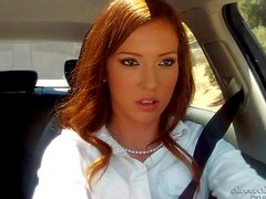Lily Labeau is a pretty lady in white blouse and
