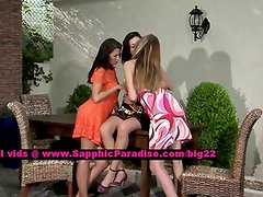 Billy and Jaquelin and Isabella teen lesbians undressing