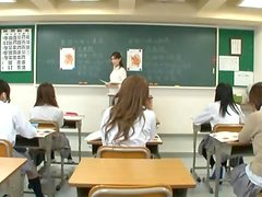 Anatomy Class Ends With Japanese School girl Fucked On Her Desk