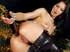 Anita Hengher is a smoking hot small titted brunette who