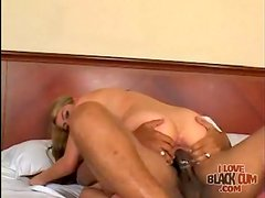 She blows black dick so it can fuck her