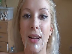 blonde sweety with braces sucks him off quickly