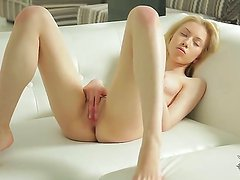 Gentle and skinny babe Camila aka Erica masturbates and gets pleasure on her bed