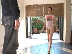 Gorgeous Asian Beauty Maria Ozawa Gets On Her Knees To Give Great Head