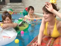 Bikinis Come Off To Show Off These Wet Japanese Pussies