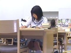 Busty Asian School Girl Getting a Hard Fucking In The Library