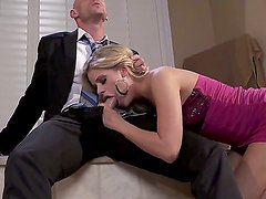 Rich businessman Johnny Sins celebrates his birthday with two luxury sluts Jessa Rhodes and Vanilla DeVille