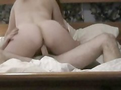 Insatiable bitch rides her wet pussy on this hard dick