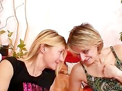 Two horny moms relieve their boredom