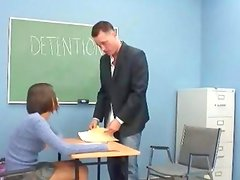 Sexy latina coed fucked by teacher