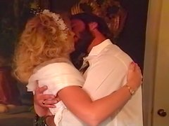 Busty blond hottie gets fucked in her first marriage night