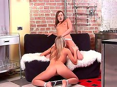 Ashely and hot Sinovia are having intense pleasure stimusexy eachother in softcore