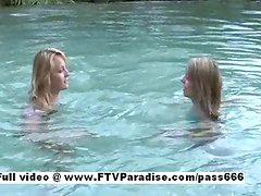 Independent Lesbians playing in the pool