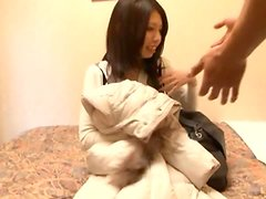 Beautiful Asian Babe Getting Her Hairy Pussy Fingered and Fucked