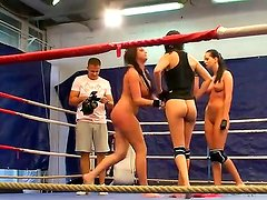 Diana Stewart,Emma Butt and Larissa Dee are fighting like some dirty sluts