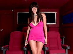 An interview with provocative brunette lady Eloa Lombard and some hot scenes of her performance