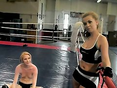 Young Alice King enjoys fighting with slut Daikiri in wild hardcore scene